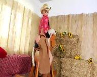 Brutal Bum Threesome With Cowboy - scene 1