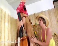 Brutal Bum Threesome With Cowboy - scene 4