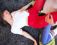 Hot Girl4girl In Pantyhose Enjoying Strap - scene 8