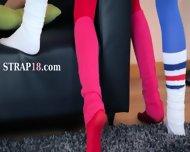 Hot Girl4girl In Pantyhose Enjoying Strap - scene 6