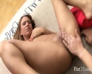 Big Lezz Fist In Her Nasty Vagina - scene 12