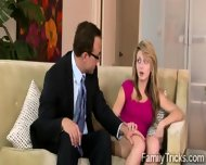 Prev Crosses The Line With His Beautiful Redhead Stepdaughter - scene 1