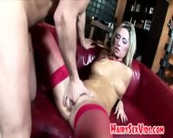 Blonde Covered In Oil And Fucked - scene 5