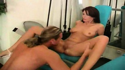 Woman seduces her Trainer in Gym - scene 9