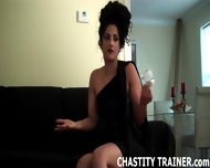 Your Cock Is Trapped In A Chastity Device And I Have The Key - scene 2