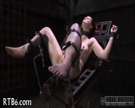 Stripping Inside A Small Iron Cage - scene 7