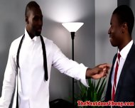 Ebony Muscular Jock Ass Drilled Deeply - scene 1