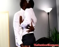Ebony Muscular Jock Ass Drilled Deeply - scene 4
