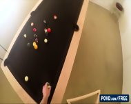 Beautiful And Blonde Samantha Hayes Playing A Pool With Bf Gets Fucked - scene 1