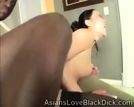 Petite Asian Gets Her Little Coochie Destroyed By Brotha - scene 11
