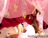 2 Sweet Wearing Diaper Schoolgirls Act Like Filthy Babies - scene 4