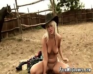 Naughty Grandpa Fucks Rodeo Girl - scene 3