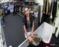 Hot College Student Wants To Sell An Old Book Gets Fucked In The Shop - scene 3
