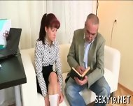 Threesome Lesson With Old Teacher - scene 5