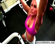 Blonde Gets Horny While Working Out - scene 1