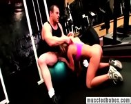 Blonde Gets Horny While Working Out - scene 7