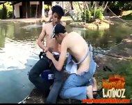 Gay Latin Dudes Fuck Bareback Style - scene 5