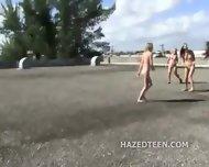 Teen Girls Perform Stunts Naked - scene 2