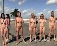 Teen Girls Perform Stunts Naked - scene 4
