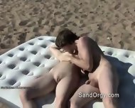 Crazy Swingers Fuck Right On Beach - scene 3