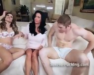Veronica Avluv Teaches Teen How To Suck - scene 7