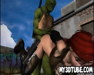 3d Cartoon Babe Getting Fucked By A Ninja Turtle - scene 3