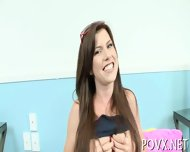Curvy Teen Loves Massive Peckers - scene 2