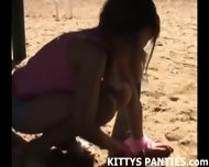 Cute 18 Year Old Teen Kitty Playing With Playdough - scene 10