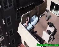 Rooftop Sex Filmed By Drone - scene 5