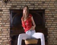 Talented 18yo Slim Chick - scene 3