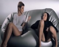 Babes In Pantyhose Intercourse With Strap On - scene 4