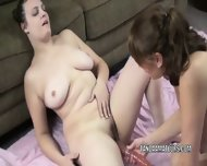 Danni And Mariah Are Sharing A Big Dildo - scene 1