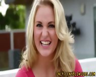 Blonde Teenie Swallows - scene 2