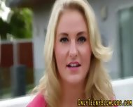 Blonde Teenie Swallows - scene 3