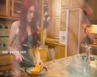 Fine Masturbation In The Kitchen - scene 1