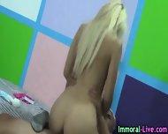 Tiny Pornstar Fucks Live - scene 5