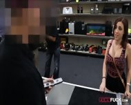 Pretty Big Natural Tits Girl In Glasses Fucked By Pawn Man - scene 1