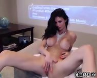 Long Legged Hot Brunette Milf Rubs Clit On Webcam - scene 1