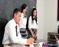 Teen Student Threesome - scene 2