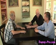 Tranny Swallows Group Cum - scene 3