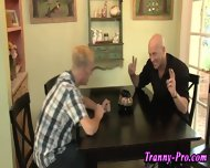 Tranny Swallows Group Cum - scene 4