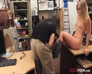 Small Tits Bimbo Pawns Her Pussy And Fucked In The Backroom - scene 4