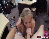 Small Tits Bimbo Pawns Her Pussy And Fucked In The Backroom - scene 5