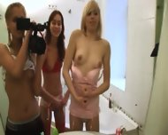 European Serious Dildo Testing On Toilet - scene 2