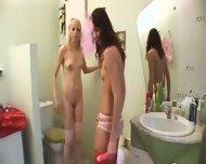 European Serious Dildo Testing On Toilet - scene 5