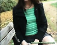 Cute Teen Is Screwed In The Park - scene 4