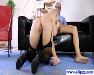 Tall Euro Beauty Loves Pleasuring Geriatric - scene 8