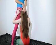 Hairy Lesbians In Nylon Panties Loving - scene 8