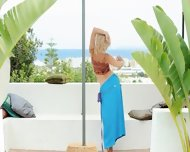 Sweet Blonde Making Garden Strip - scene 2