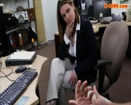 Horny Busty Woman Fucked In The Backroom For A Plane Ticket - scene 3